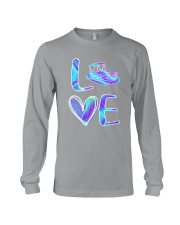 Pontoon Boat Love Purple Texture Long Sleeve Tee thumbnail