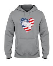 Pontoon Boat US Flag Heart Hooded Sweatshirt thumbnail