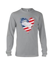 Pontoon Boat US Flag Heart Long Sleeve Tee thumbnail