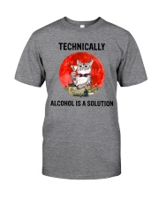 Cat - Alcohol Is A Solution Classic T-Shirt front