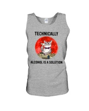 Cat - Alcohol Is A Solution Unisex Tank thumbnail