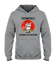 Cat - Alcohol Is A Solution Hooded Sweatshirt thumbnail
