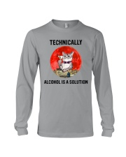 Cat - Alcohol Is A Solution Long Sleeve Tee thumbnail