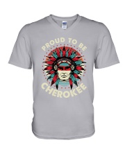 Native - Proud To Be Cherokee V-Neck T-Shirt thumbnail