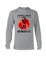 Volleyball- Forget Calm And Smash It Long Sleeve Tee thumbnail