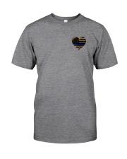 Thin Blue Line Leopard 2 Sides Classic T-Shirt tile