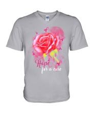 BC - Hope For A Cure V-Neck T-Shirt tile