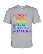 LGBT - God Says You Are V-Neck T-Shirt tile