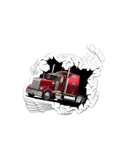 Truck Crack Sticker - 10 pack (Horizontal) front