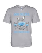 Cat - Save The Cat V-Neck T-Shirt tile