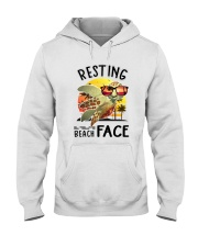 Turtle - Resting Beach Face Hooded Sweatshirt tile