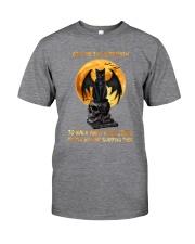 Black Cat Give Me Strength Classic T-Shirt tile
