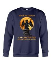 Black Cat Give Me Strength Crewneck Sweatshirt thumbnail