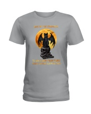 Black Cat Give Me Strength Ladies T-Shirt thumbnail
