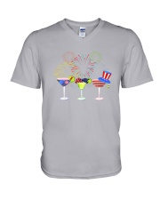 Margarita Independence Day V-Neck T-Shirt thumbnail