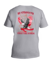 Multiple Myeloma Be Strong 2 Sides V-Neck T-Shirt tile