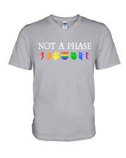 Cat LGBT - Not A Phase V-Neck T-Shirt tile