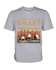 Donkey - Dont Be A Smart V-Neck T-Shirt tile