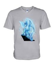 Dragon Diabetes V-Neck T-Shirt thumbnail
