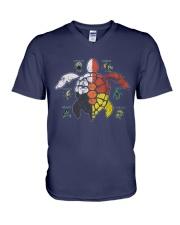 Native American Turtle V-Neck T-Shirt thumbnail