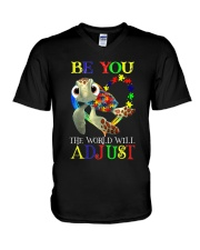 Autism - Be You V-Neck T-Shirt tile