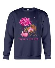 Breast Cancer Horse Crewneck Sweatshirt tile