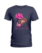 Breast Cancer Horse Ladies T-Shirt tile