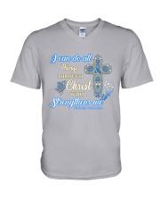 Diabetes - I can do all things through Christ V-Neck T-Shirt thumbnail