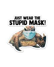 STICKER-Turtle - Stupid Mask Sticker - Single (Vertical) front