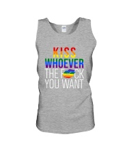 LGBT -Kiss Whoever The F You Want 2 Sides Unisex Tank tile