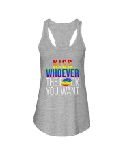 LGBT -Kiss Whoever The F You Want 2 Sides Ladies Flowy Tank tile