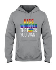 LGBT -Kiss Whoever The F You Want 2 Sides Hooded Sweatshirt tile
