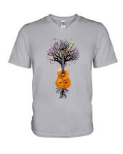 Guitar - Musical Tree V-Neck T-Shirt tile