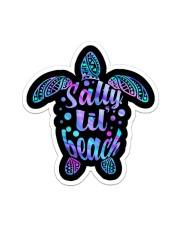 Turtle Salty Lil Beach Purple Crack St Sticker - Single (Vertical) front