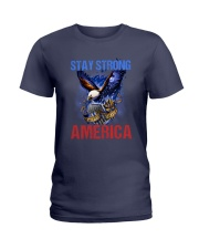 Police - Stay Strong America Ladies T-Shirt thumbnail