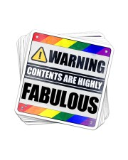 STICKER-LGBT - Contents Are Highly Fabulous Sticker - 10 pack (Vertical) front
