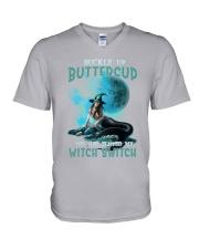 Mermaid Skull - Buckle Up Buttercup V-Neck T-Shirt thumbnail