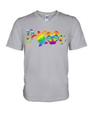 LGBT - Turtle Love Beach V-Neck T-Shirt thumbnail