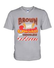 Black Chocolate Ice Cream V-Neck T-Shirt tile