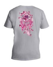 BC - Breast Cancer Mandala 2 Sides V-Neck T-Shirt tile
