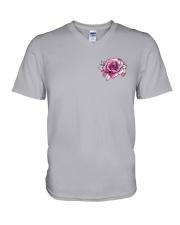 BC - Breast Cancer Mandala 2 Sides V-Neck T-Shirt thumbnail