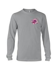 BC - Breast Cancer Mandala 2 Sides Long Sleeve Tee thumbnail
