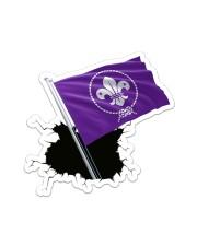 Scout Flag Crack St Sticker - Single (Vertical) front