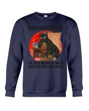 Cats And Knitting Crewneck Sweatshirt thumbnail