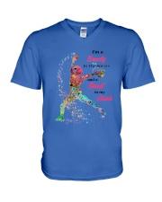 Softball Beauty In Street V-Neck T-Shirt thumbnail