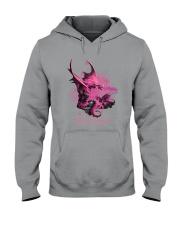 Breast Cancer - Fight Like A Dragon Hooded Sweatshirt thumbnail