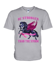 Bc - Be Strong Than The Storm V-Neck T-Shirt tile