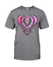 Dragon Breast Cancer Classic T-Shirt tile