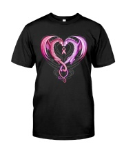 Dragon Breast Cancer Classic T-Shirt front