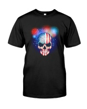 Skull Independence Day Classic T-Shirt front